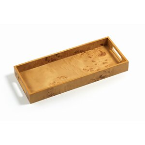 Rectangular Burlwood Bar Tray