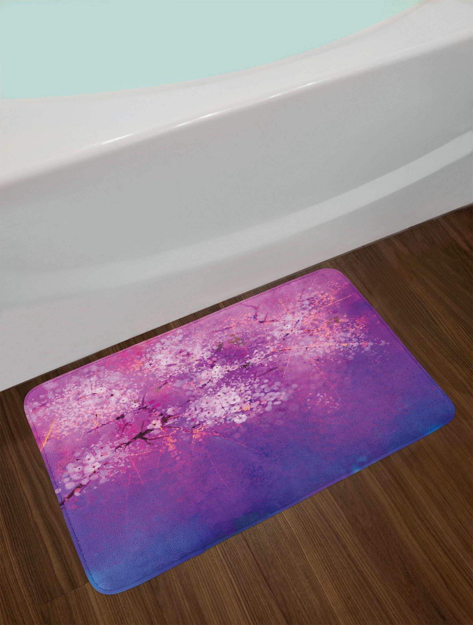 Peachy Fuchsia Purple Flower Bath Rug Home Interior And Landscaping Ologienasavecom