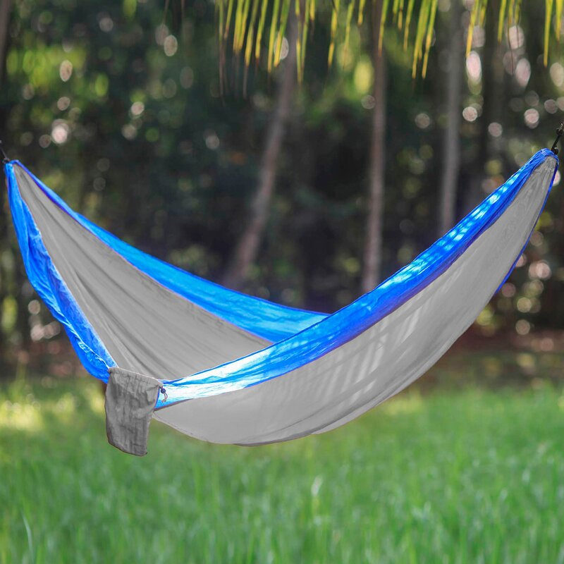 Freeport Park Karley Sports Force Double Camping Hammock  Color: Blue/Gray