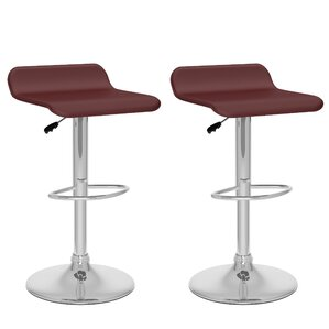 Tanner Adjustable Height Swivel Bar Stool (Set of 2) by Wade Logan