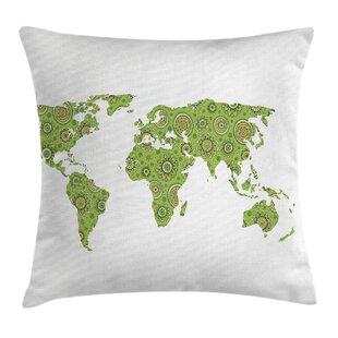 World map bedding sets wayfair world map ethnic chart artisan pillow cover gumiabroncs Choice Image
