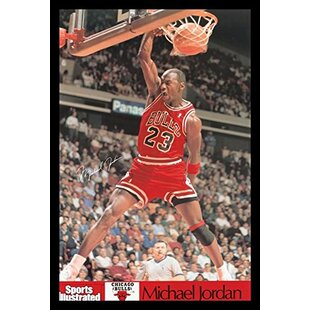 4e44d649c46 'Michael Jordan - Sports Illustrated Dunk' Framed Photographic Print. by Buy  Art ...