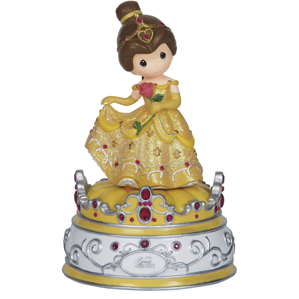 "Precious Moments ""Beauty and the Beast"" Music Box Figurine | Wayfair"