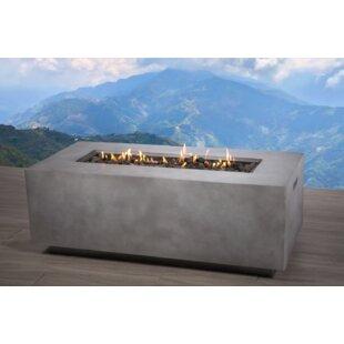 Santiago Concrete Propane/Natural Fire Pit Table