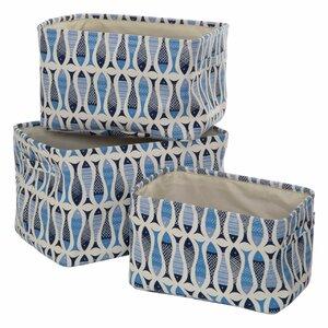 3-tlg. Aufbewahrungskisten-Set Pisces aus Stoff von Premier Housewares