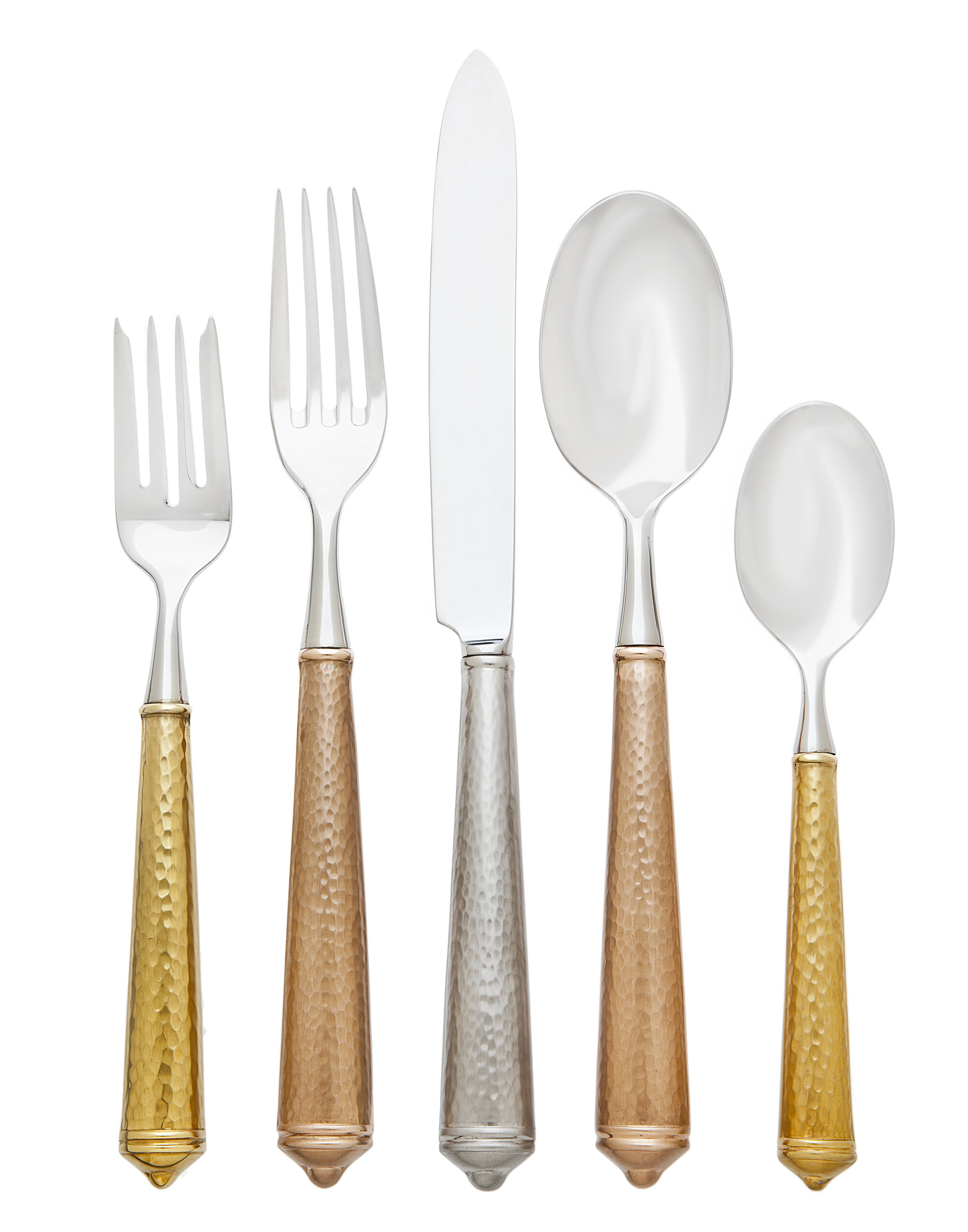 Ricci Argentieri Cellini 5 Piece Hostess Set Stainless 18//10 NEW in box