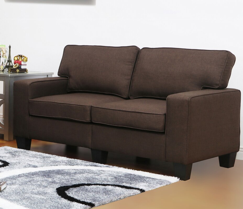 Living in style jordan linen modern living room loveseat for Jordan linen modern living room sofa