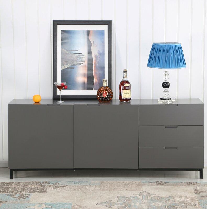 Modern Sideboard orren ellis korando modern sideboard with matt lacquer reviews
