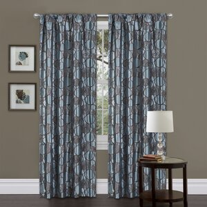 Circle Charm Geometric Semi-Sheer Rod Pocket Single Curtain Panel