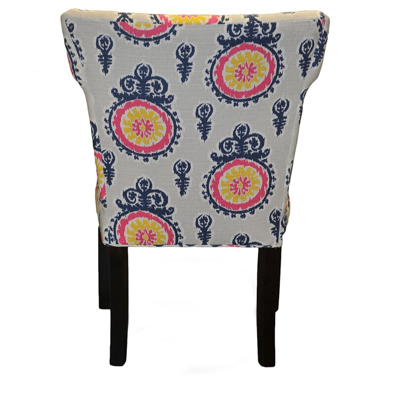 Calandra Cotton Wingback Cotton Side Chair