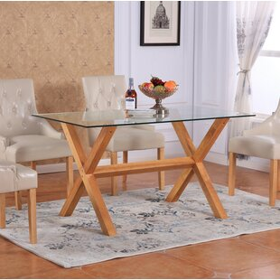 Lemp Tempered Glass Top Dining Table