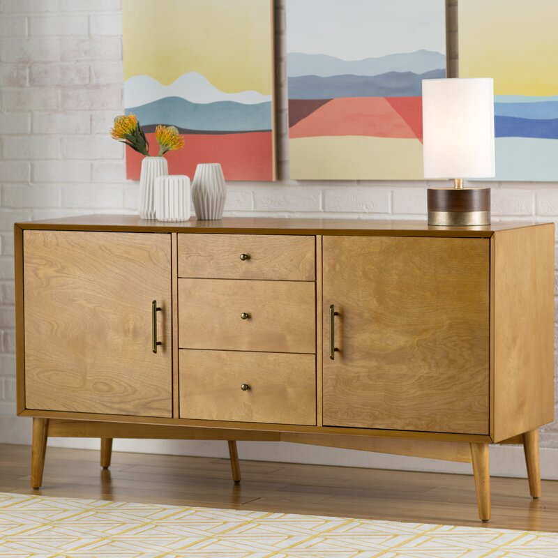 langley street easmor sideboard reviews wayfair. Black Bedroom Furniture Sets. Home Design Ideas