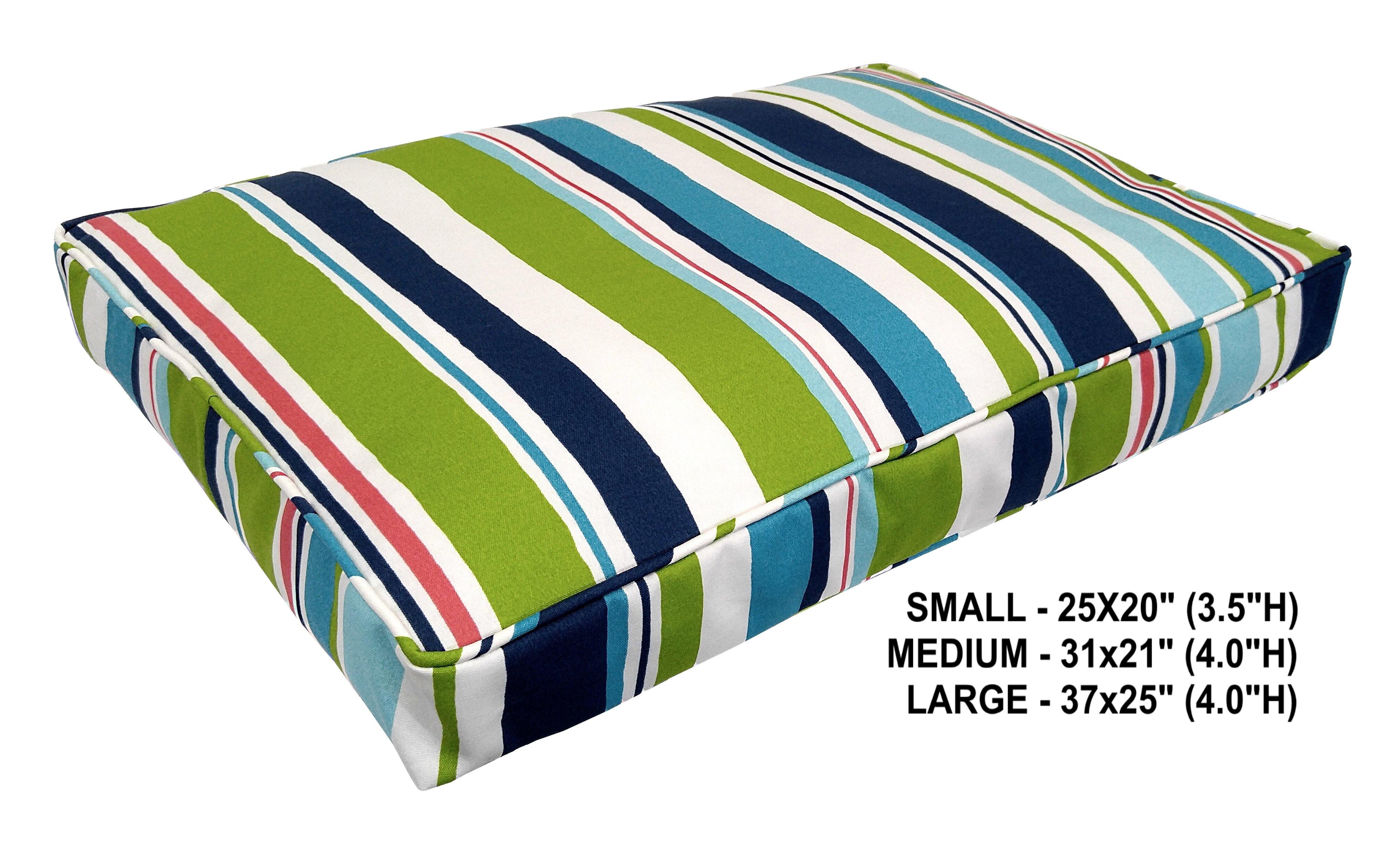 Tucker Murphy Pet Nadia Stripe Indoor Outdoor Dog Bed Reviews