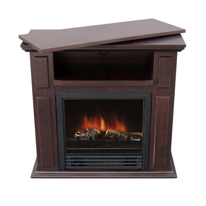 Swivel Top Trygve 26 TV Stand With Fireplace