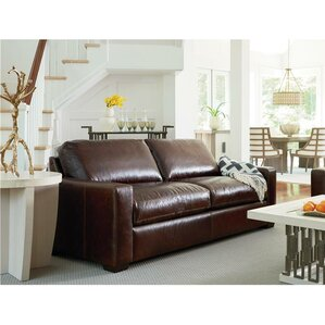 Dansville Two Seat Full Top Grain Leather Sofa