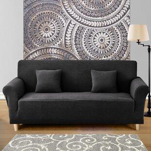 Spandex Box Cushion Sofa Slipcover by Symple Stuff