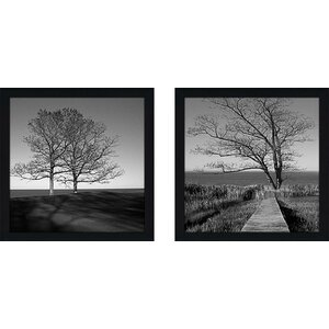 To The End' 2 Piece Framed Photographic Print Set Under Glass