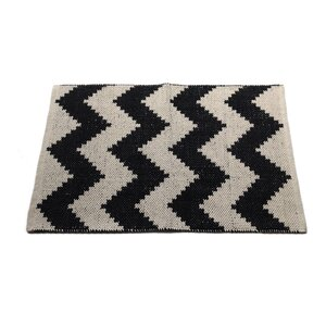 Chevron Black/Beige Area Rug