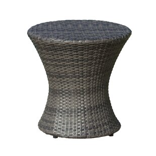 Outdoor Side Tables Youll Love Wayfair - White wicker patio coffee table