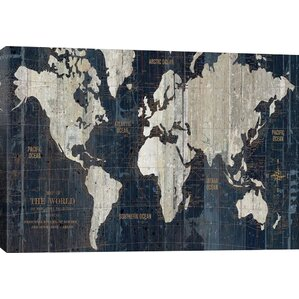 World Map Wall Art - Faded poster maps for sale us