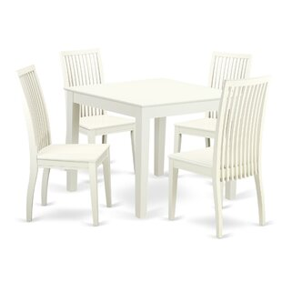 Cobleskill5 Piece Breakfast Nook Solid Wood Dining Set