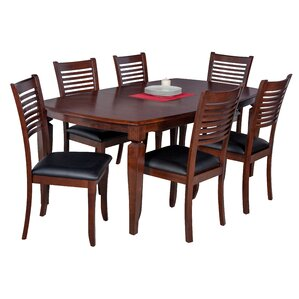 Besse 7 Piece Wood Dining Set by Red Barrel Studio