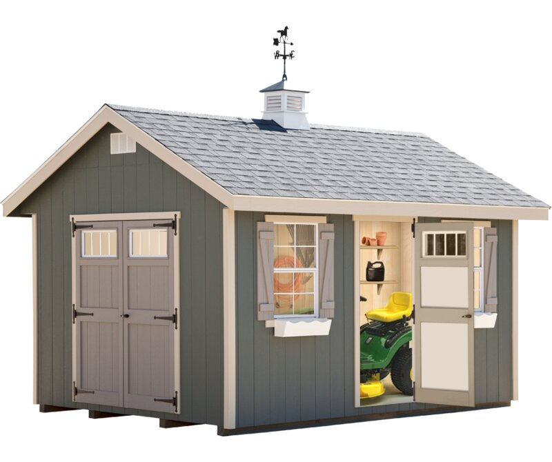 Riverside 10 Ft. W X 14 Ft. D Wooden Storage Shed