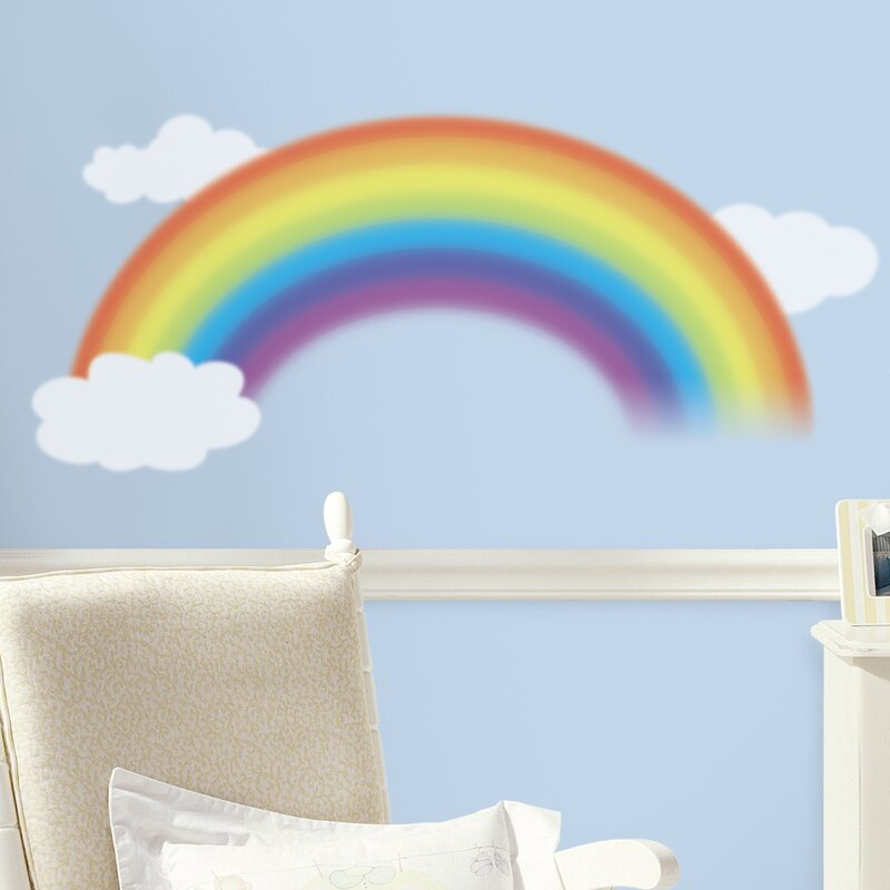 Room Mates Deco Over The Rainbow Wall Decal