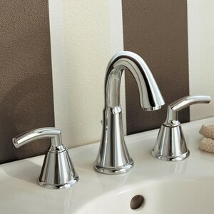 Tropic Widespread Double Handle Bathroom Faucet with Drain Assembly