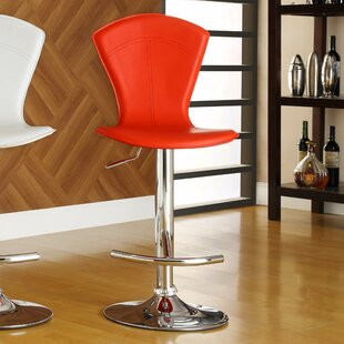 Agrippa Modern Adjustable Height Swivel Bar Stool (Set of 2)