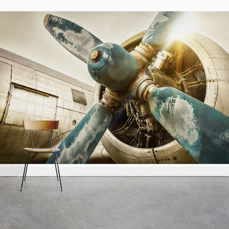 Wallums Wall Decor Vintage Airplane Propeller 8 x 144 3 Piece Wall