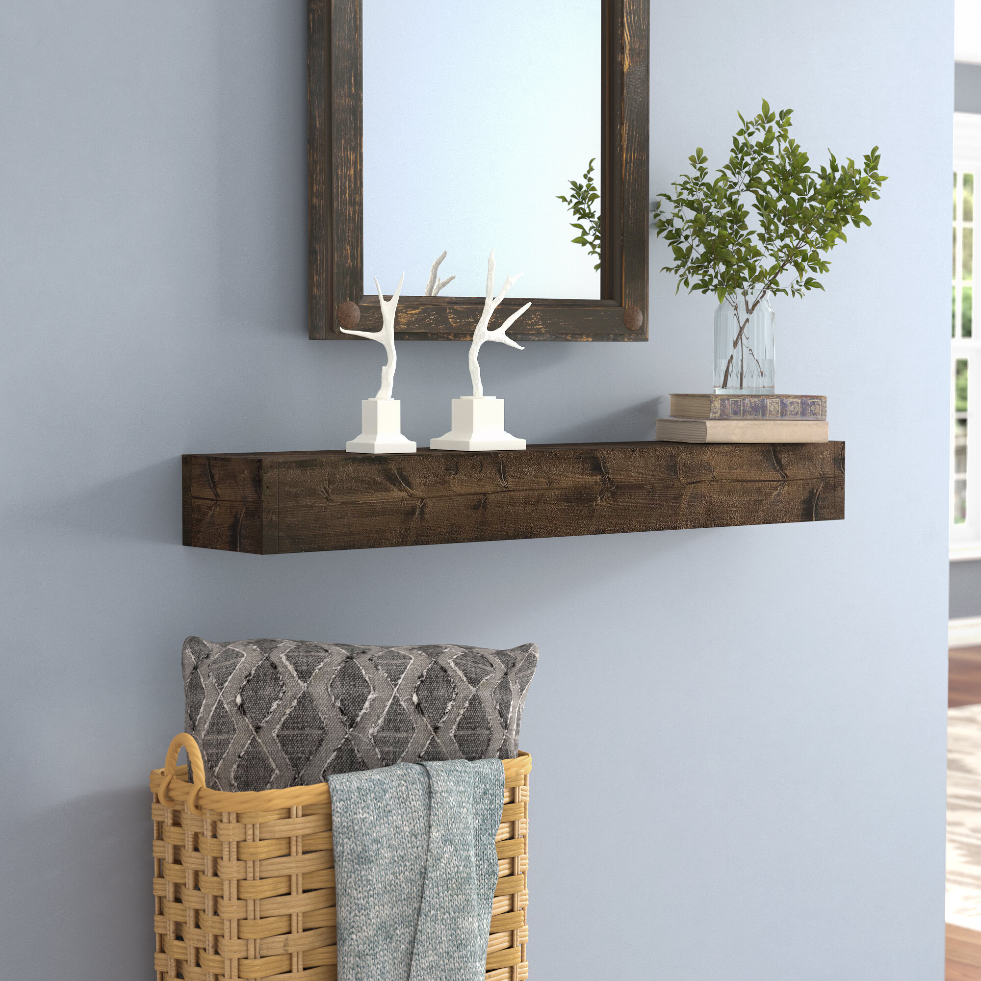 Mistana Kaydence Wood Floating Shelf & Reviews | Wayfair