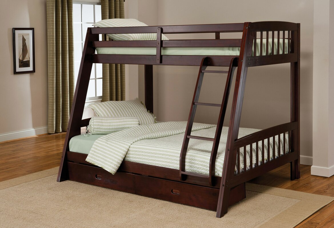 Madyson Twin over Full Bunk Bed with Storage Reviews AllModern