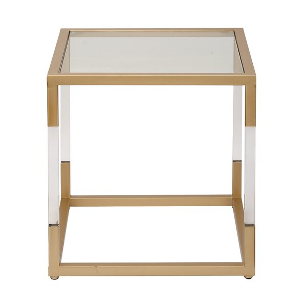 Metal, Glass And Acrylic End Table & Reviews