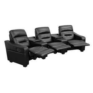 Dash 3 Seat Reclining Leather Home Theater Sofa by Latitude Run