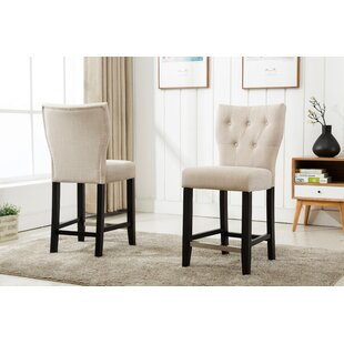 Fontane Counter Height Upholstered Dining Chair (Set of 2)