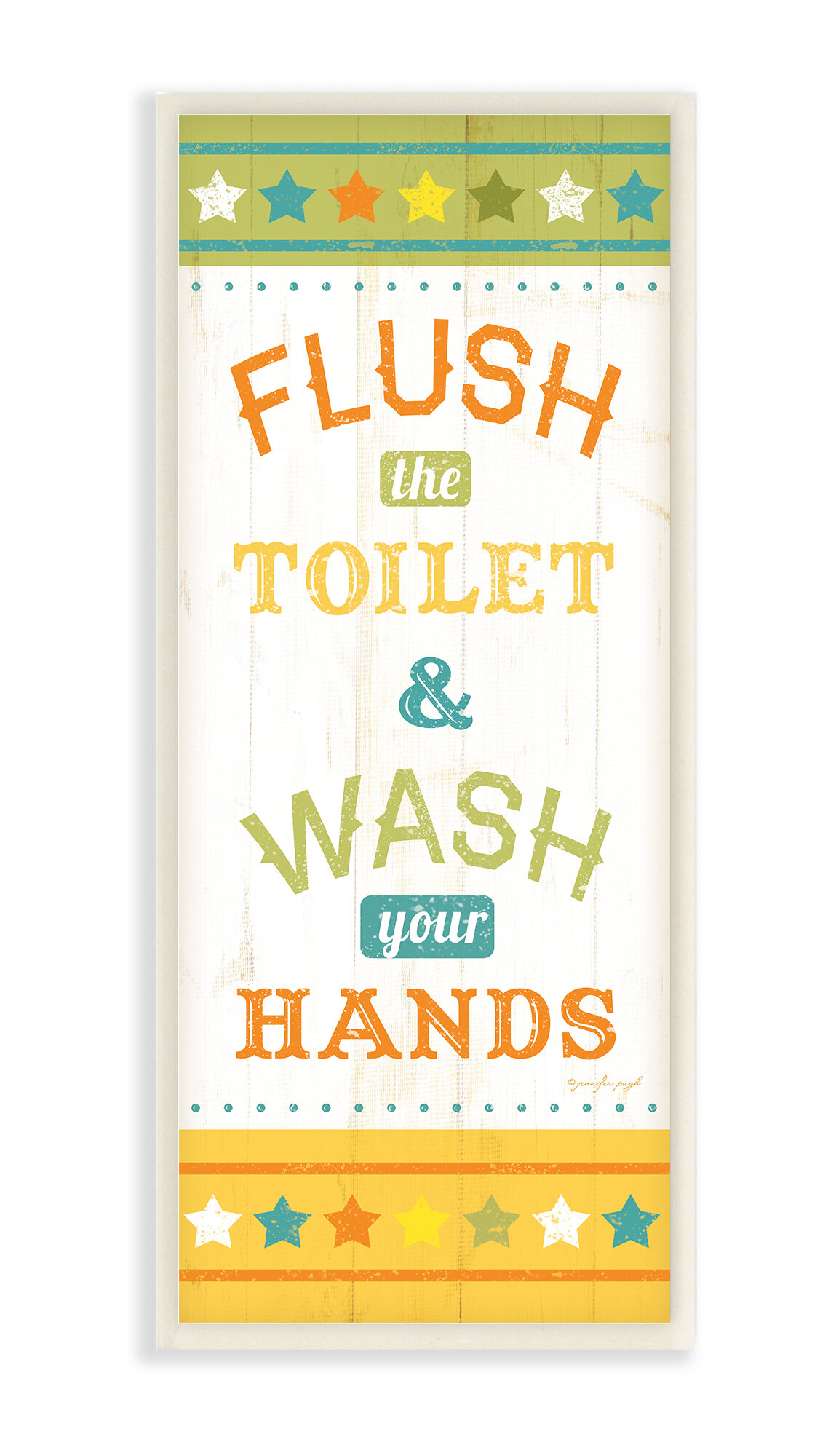 Stupell Industries Flush the Toilet and Wash Your Hands Skinny ...