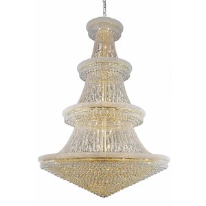 Jessenia 66-Light Chain Crystal Chandelier