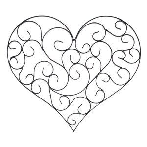 Wrought Iron Heart Wall Decor