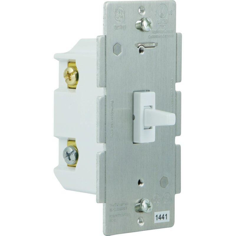 GE Z-Wave 3-Way Add-on Toggle Wall Mounted Light Switch   Wayfair