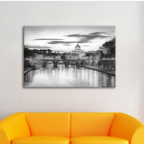 Home Loft Concept Night View of St. Peter\'s Basilica in Rome Wall ...