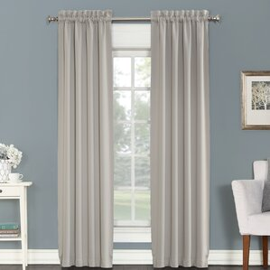 madden solid blackout rod pocket curtain panels set of 2