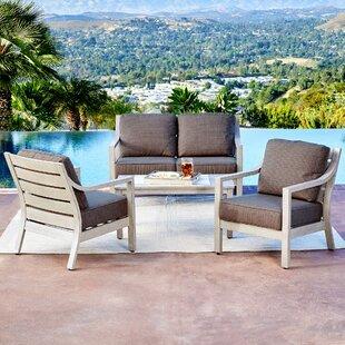 Ordinaire Corduff South Beach 4 Piece Conversation Set With Cushions