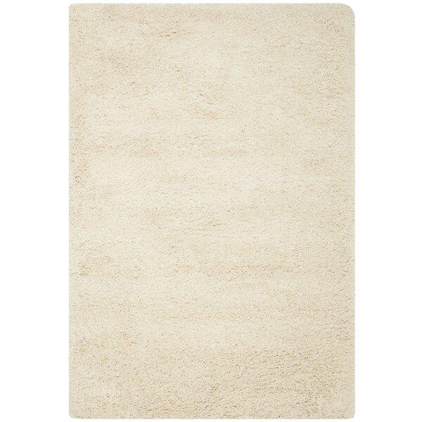 mercury row yoan handmade shag and flokati ivory area rug u0026 reviews wayfair