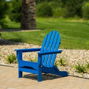 August Grove Paterson Plastic Folding Adirondack Chair
