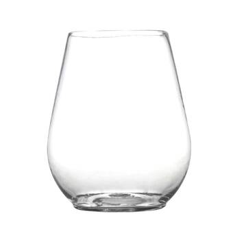 dbae091db55 Renaissance 4 oz. Plastic Stemless Wine Glass (Set of 8)