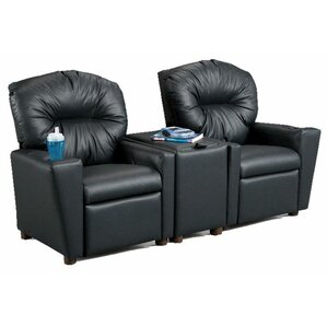 Ava Home Theater Childrenu0027s Cotton Recliner with Storage Compartment and Cup Holder  sc 1 st  Wayfair & Kidsu0027 Recliners islam-shia.org