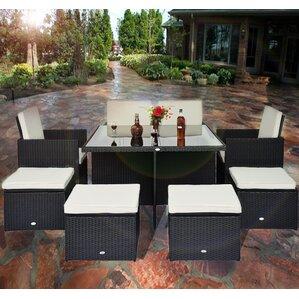 malibu 8 seater patio furniture set. outsunny 8 seater dining set with cushions malibu patio furniture
