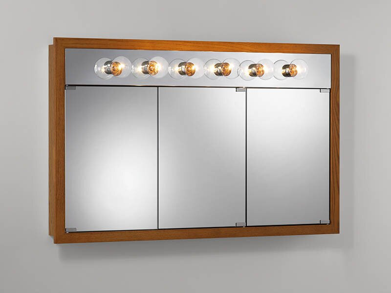 """48"""" x 30"""" Surface Mount Medicine Cabinet with Lighting"""