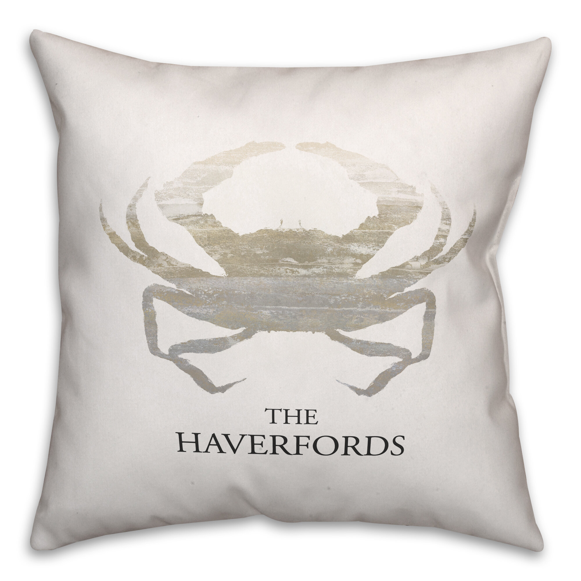 Breakwater Bay Randleswood Name Crab Throw Pillow